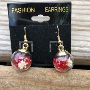 Unique globe earrings